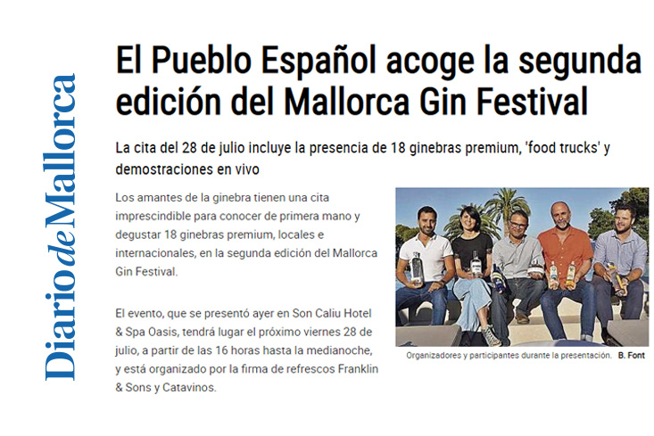 Our winery in Pollensa will be featured at the Mallorca Gin